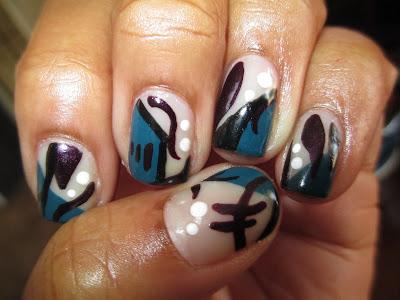 Julep, Donna, Trina, abstract, nail art, nail design, mani