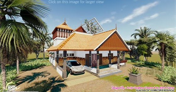 Traditional Kerala House In 1200 House Design Plans