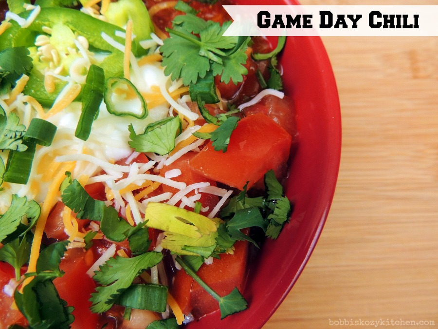 Game Day Chili | Bobbi's Kozy Kitchen