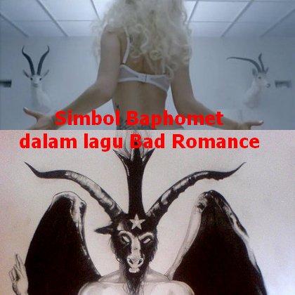 lambang setan lady gaga