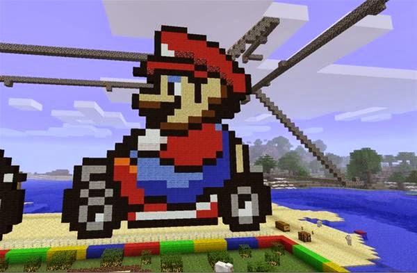 Minecraft Xbox 360 Edition TipsCreations Mario Kart Pixel Art