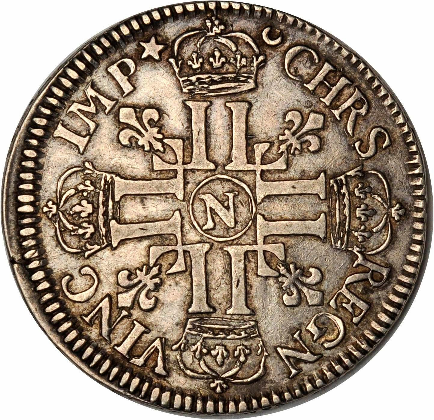 France 1690 Crown or Ecu of Six Livres or Francs