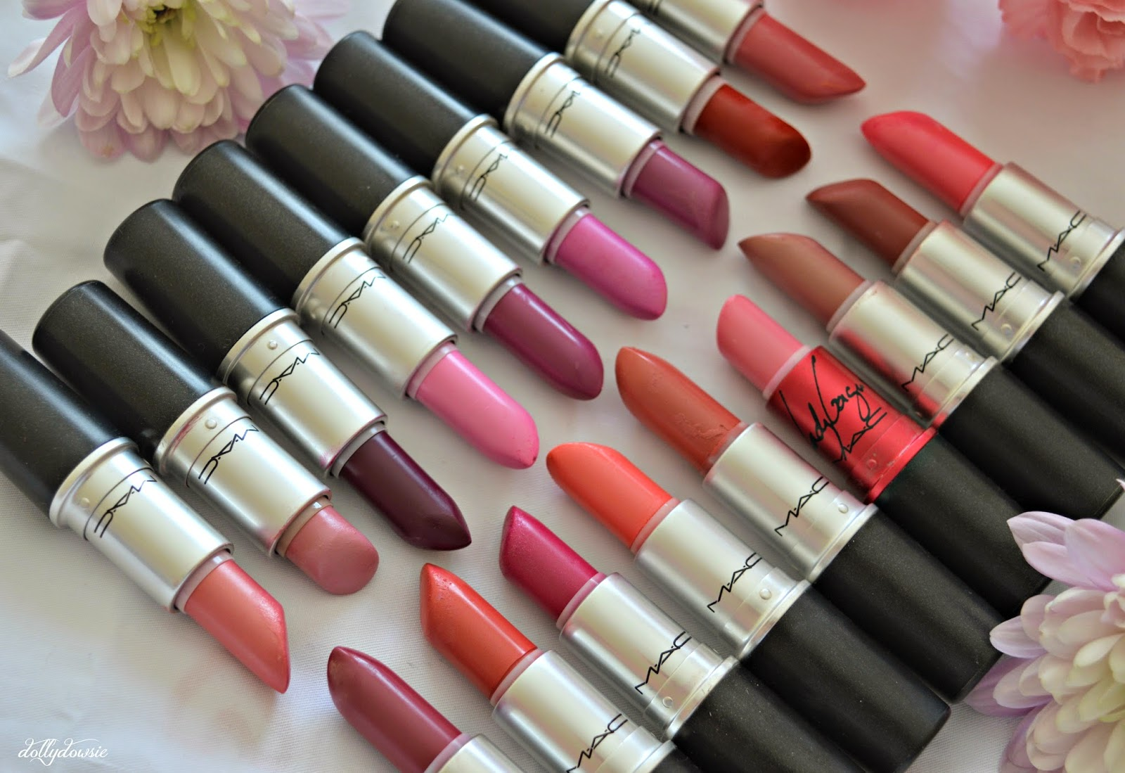 My mac lipstick collection dolly dowsie for Mac due the box