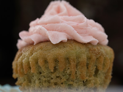 Basil cupcake with Raspberry buttercream, gluten free,