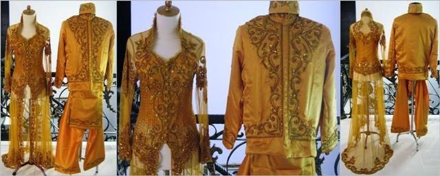 Model Kebaya 2015 Desain Modern Terbaru Warna Gold Motif Emas Serimbit