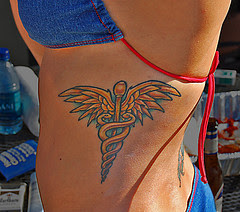 Lindsay's tattoo by David Sledge via Flickr and a Creative Commons license