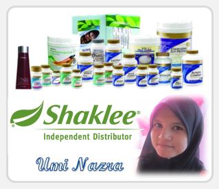 Produk Shaklee Umi Nazra