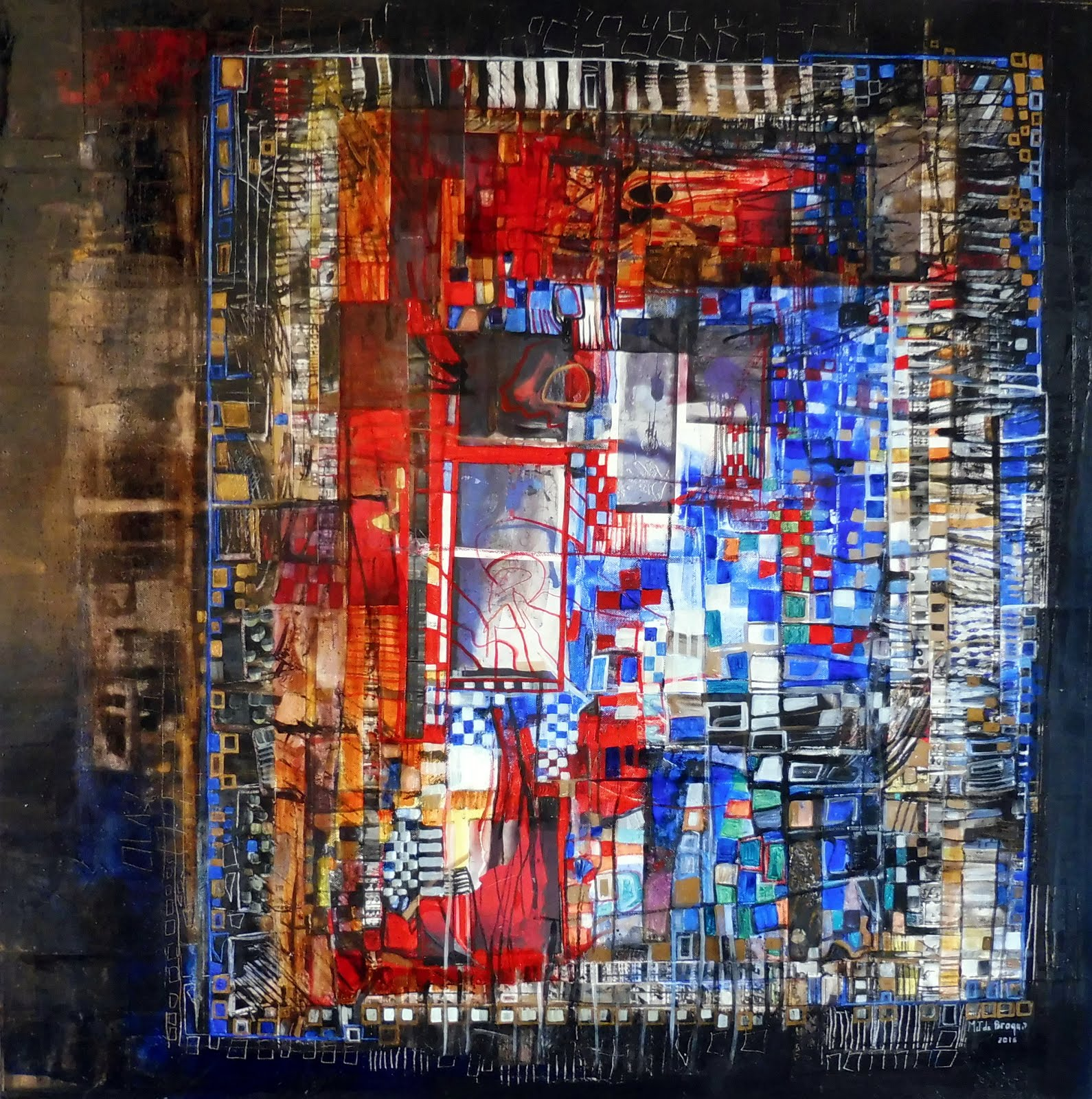 La porte d'Adam - 80 x 80 cm - 2016