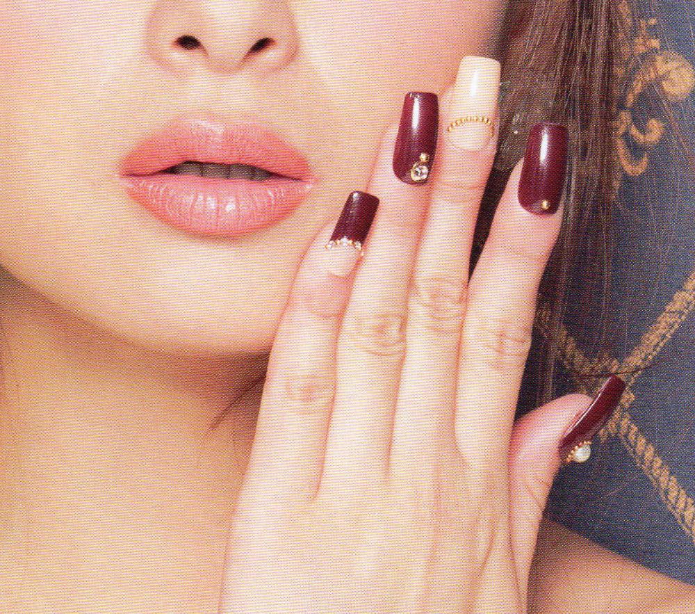 November nail inspiration, fall inspired step by step nail art