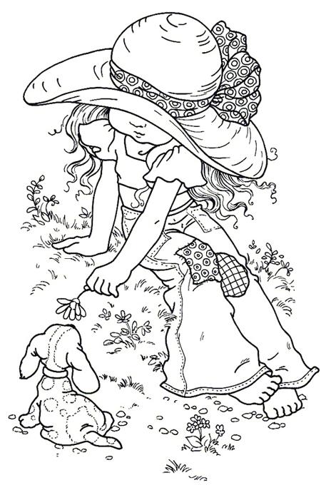 صورة بنت تلعب مع الكلب الجميل للتلوين