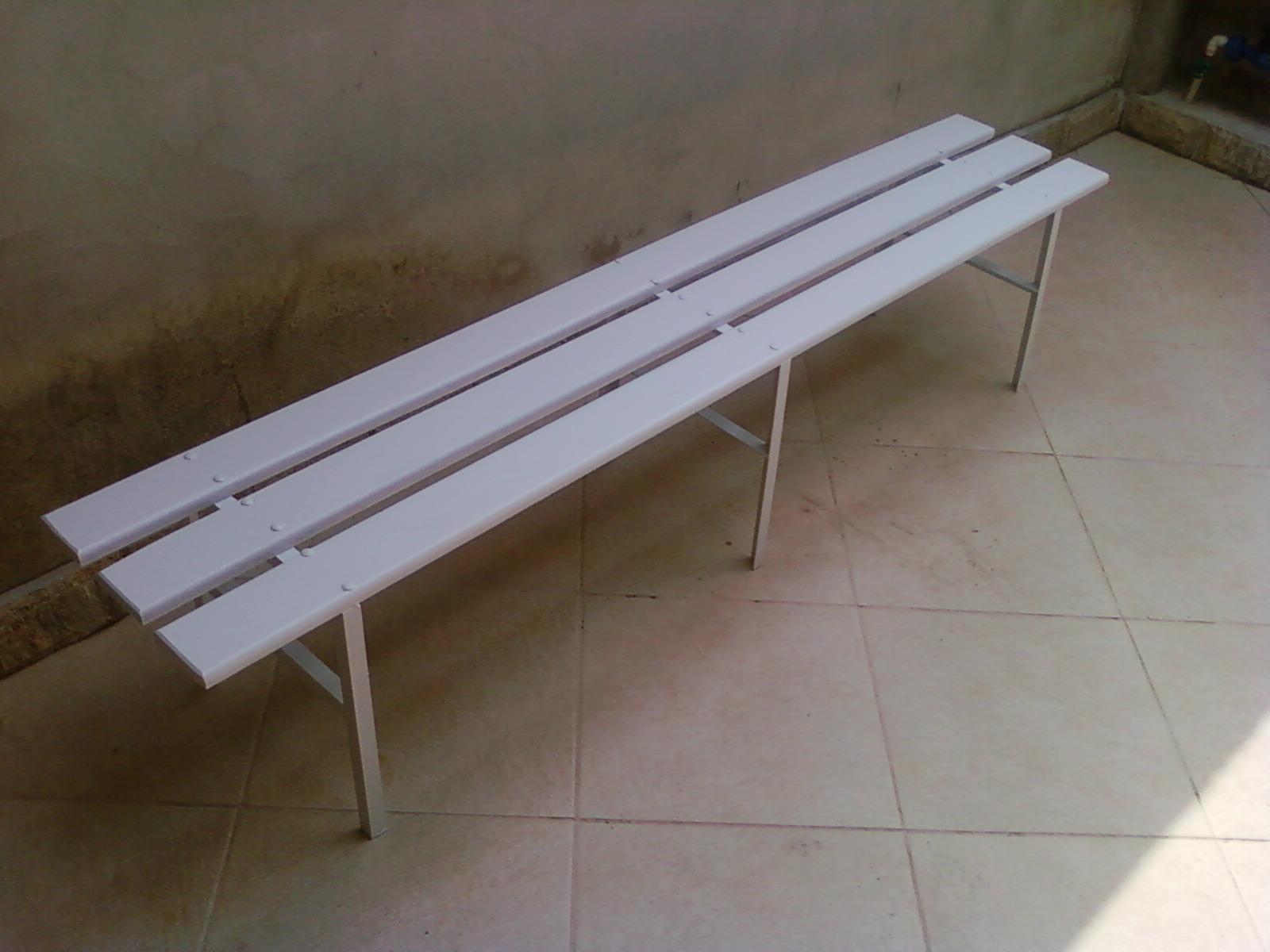: Banco para Vestiário em madeira e aço modelo PAS 200 Branco #423525 1600x1200