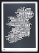 PLACE FAME: Is your hometown on this detailed type map of Ireland (available . bold and noble black