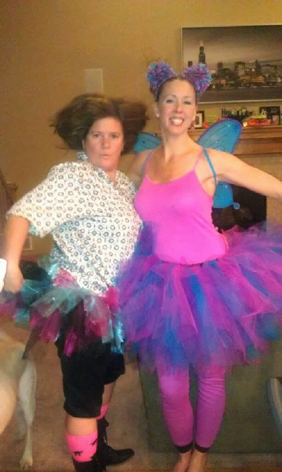 Tara as Ace Ventura Pet Detective and Rem as Abby Cadabby from Sesame Street.  sc 1 st  The New Normal : abby cadabby costume for adults  - Germanpascual.Com