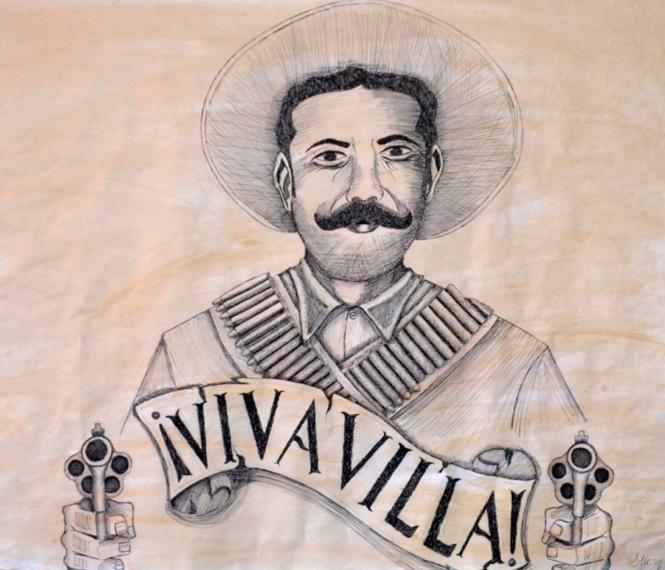 pancho villa dibujo