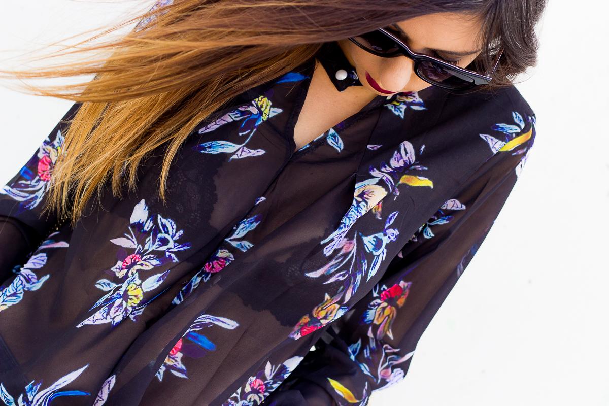 floral print blouse chollomoda