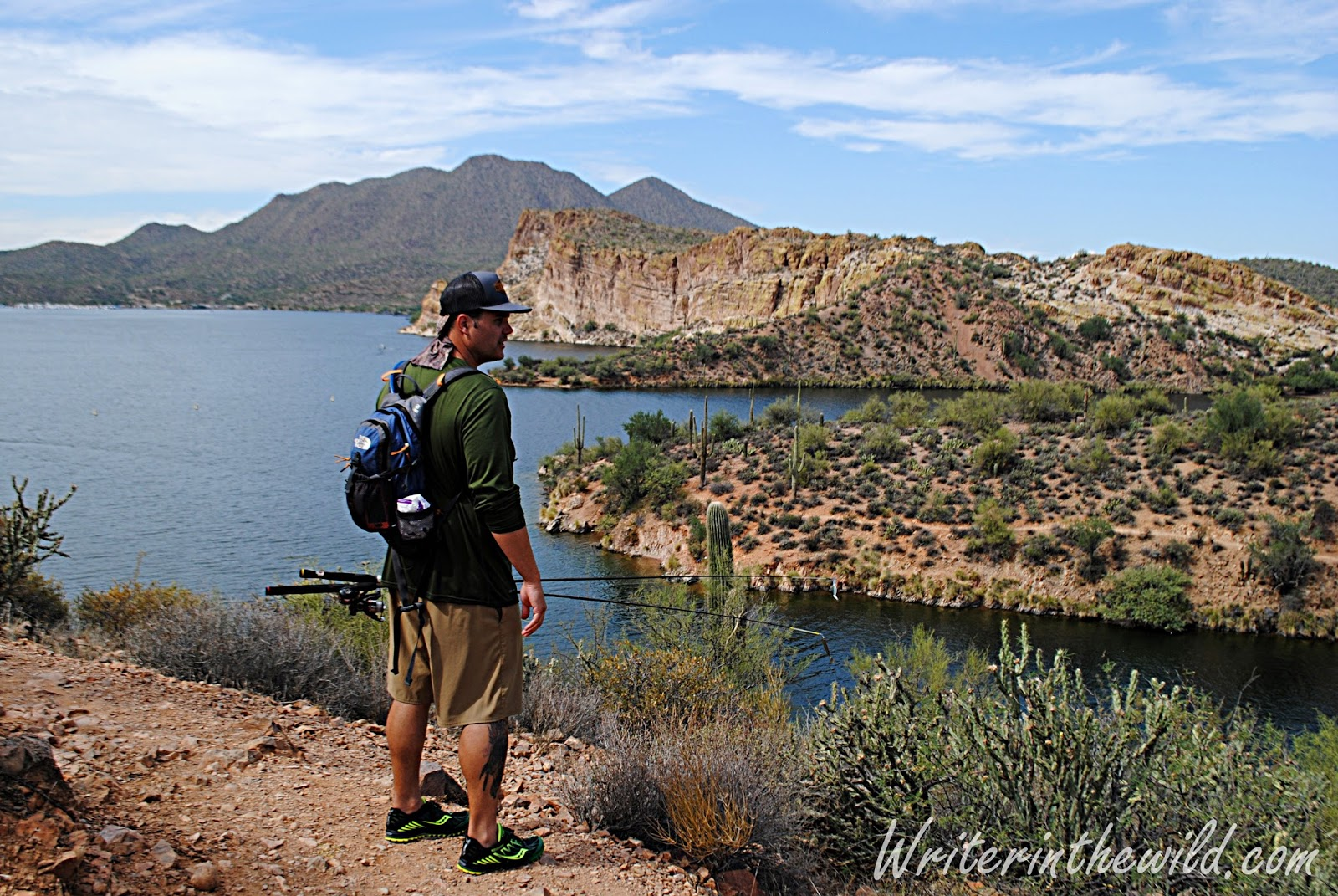 Writer in the wild saguaro lake fishing for Saguaro lake fishing