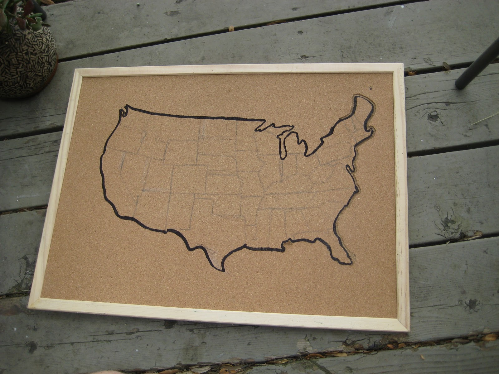 CRAFT  Interactive Travel Map CRAFT - Map of the united states cork board