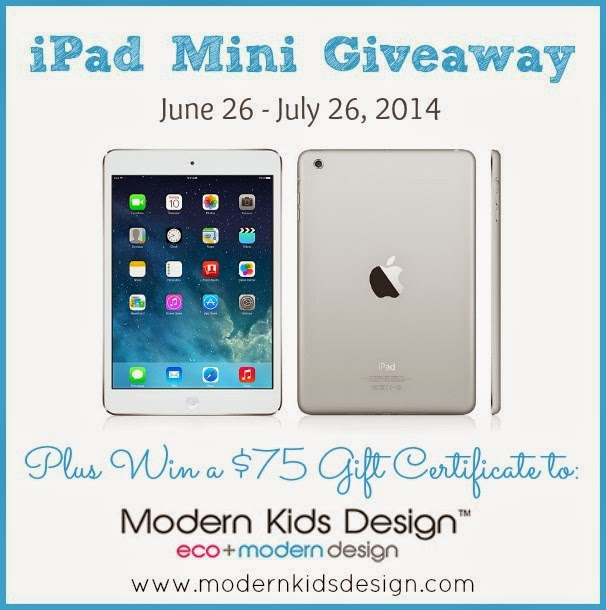 Modern Kids Design Gift Card + iPad Mini Giveaway Event