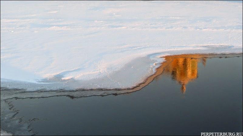 Вид Петербурга зимой отражение фото