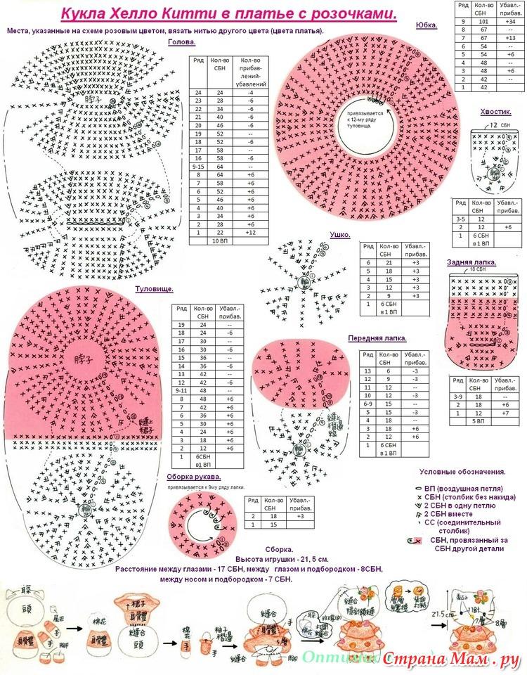 Амигуруми схемы вязания 40