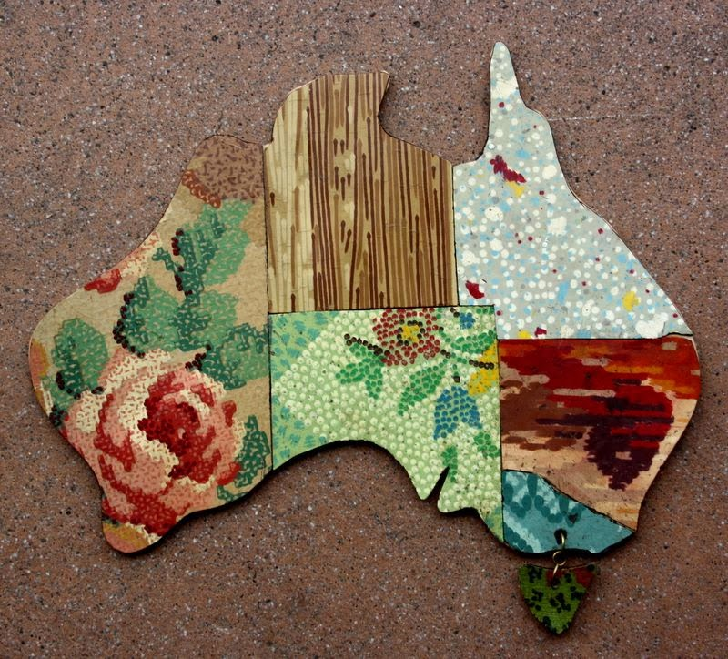 """I Still Call Australia Home"" wall plaques"