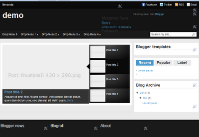 Media Online Free Template blogger