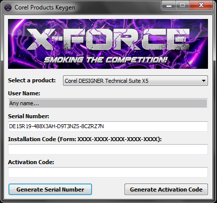 Corel Products keygen X Force