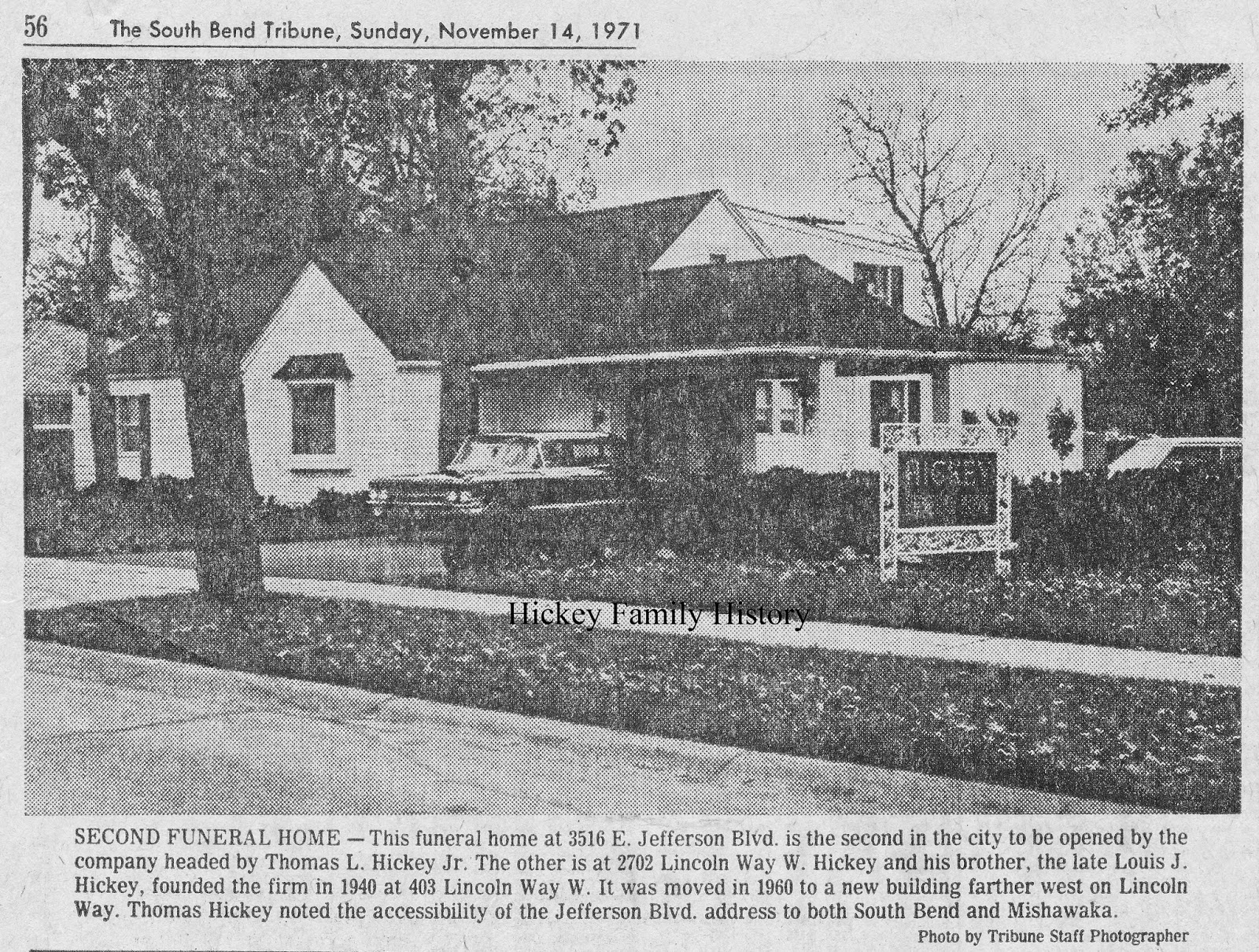 boulevard in south bend indiana the funeral home was the second for the firm the other larger funeral home was located at 2702 lincoln way west