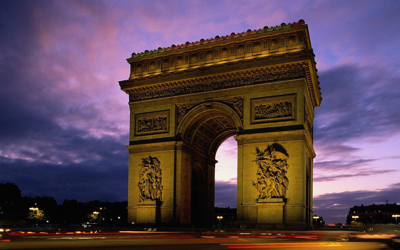 Arc de triomphe paris france world travel destinations for Best vacation spots in france