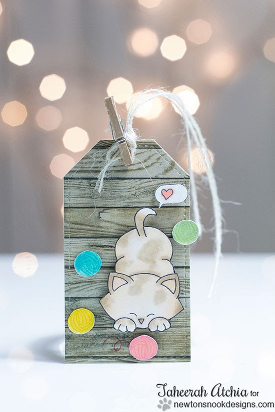 Cute Kitty Tag by Taheerah Atchia for Newton's Nook Designs
