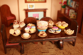 food gifts: miniature food made with salt dough