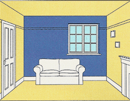 Vendez plus vite votre bien o mettre de la couleur dans for Peindre un seul mur