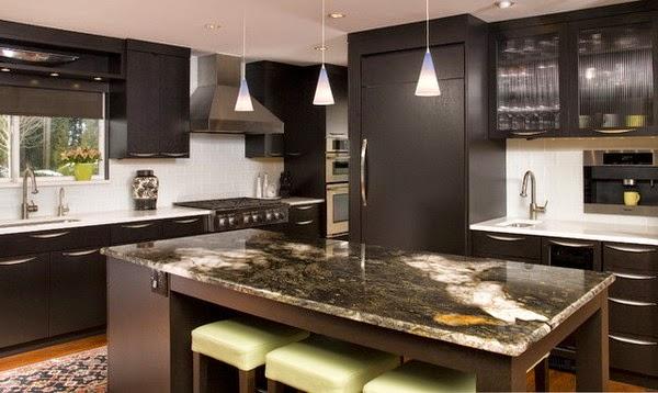 Couleur de peinture pour cuisine avec armoire fonc es for Peindre sa cuisine