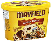 Mayfield Ice Cream Flavors Vanilla Chocolate Strawberry Birthday Cake Moose Tracks Turtle Chip Cookie Dough