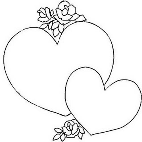 desenhos de coração para imprimir