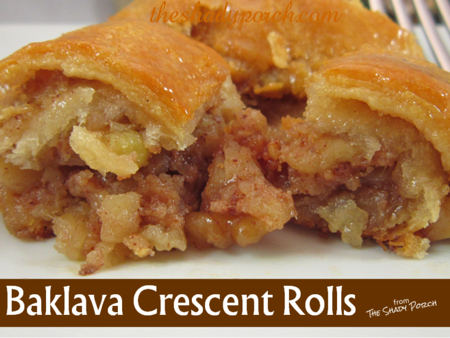 The Shady Porch: Baklava Crescent Rolls