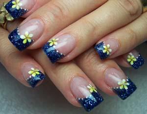 margaritas para decorar uñas