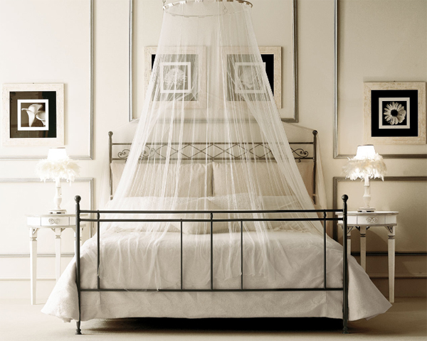 bedroom theme canopy bed ideas white black beige wall paper design