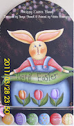 free happy easter bunny cross stitch chart. right click and save as. easter bunny chart
