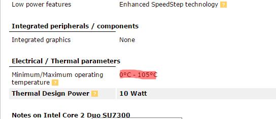 gambar suhu aman CPU SU7300