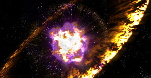 An artist's conception of a shock wave from a supernova. Credit: Greg Stewart, SLAC National Accelerator Laboratory