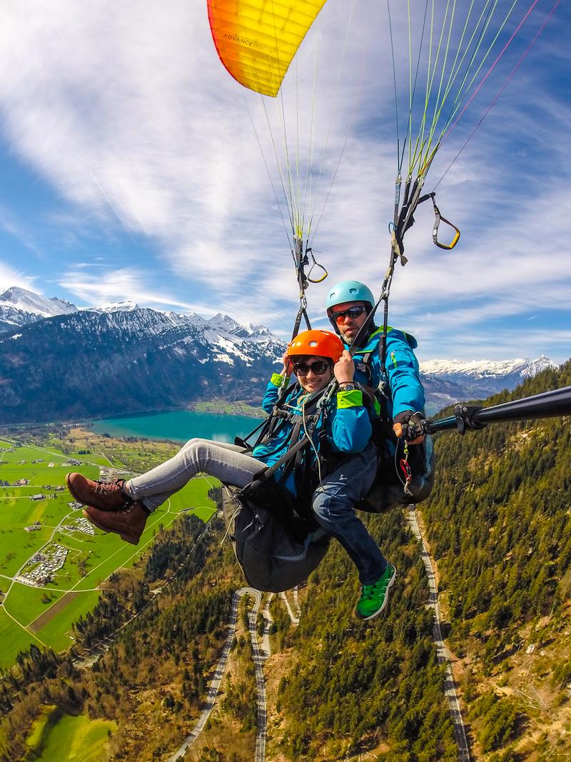 Paragliding photos in interlaken switzerland