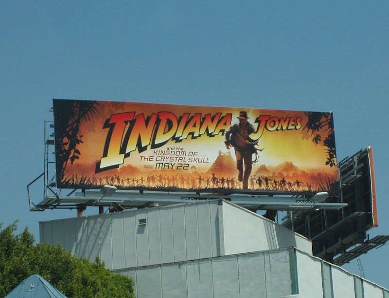 Indiana Jones Kingdom of Crystal Skull billboard