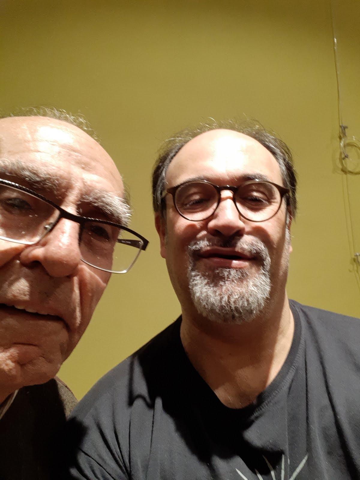 Amb el poeta Jordi Pàmias
