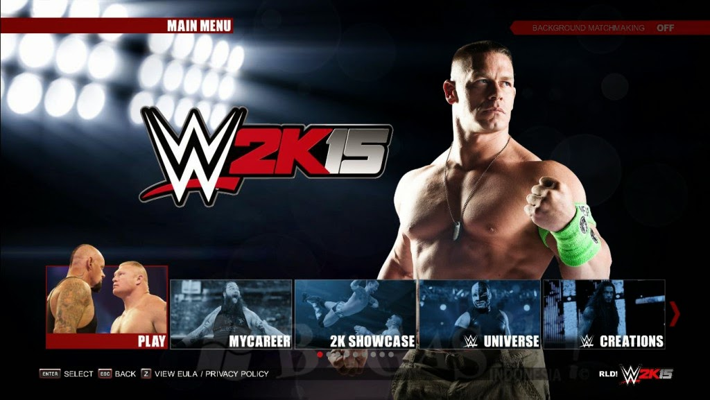 WWE 2K15 PC Game Full Crack Version Terbaru  screenshot