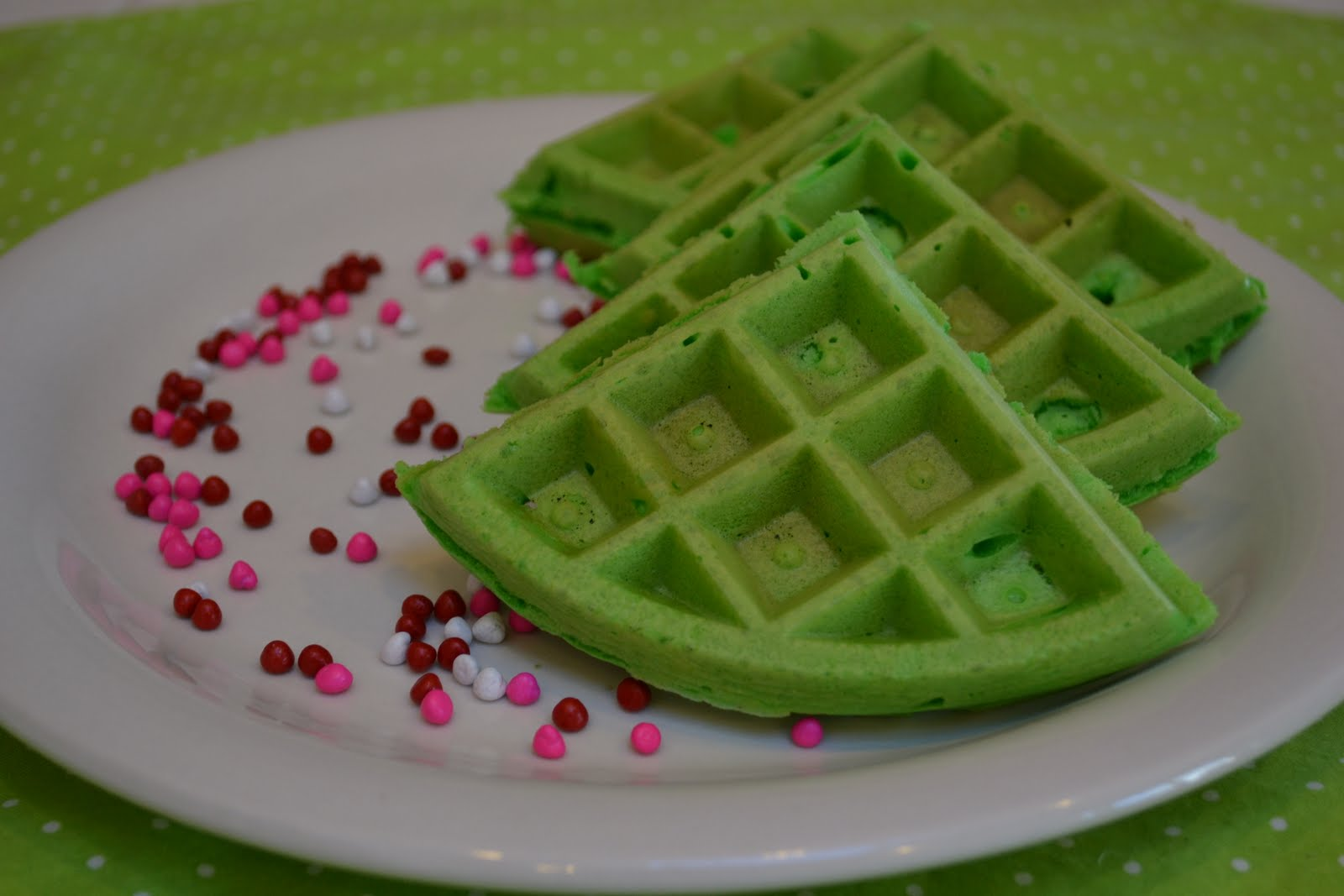 Real Life, One Day at a Time: Christmas tree waffles