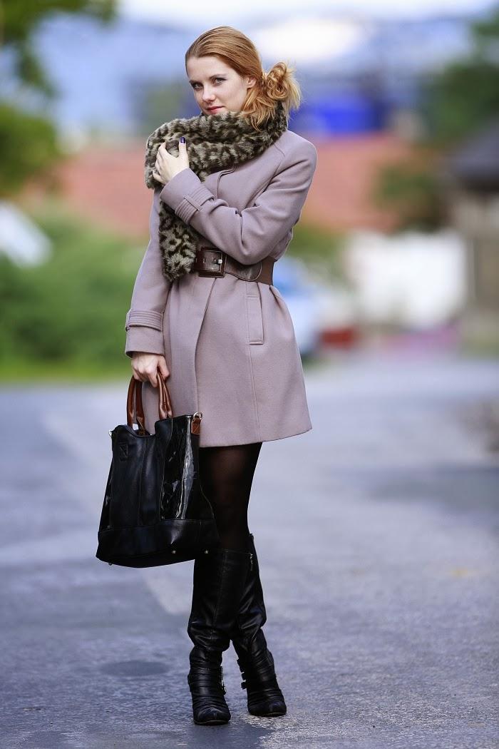 lucie srbová, módní blog, zara, kabelka, kožešina