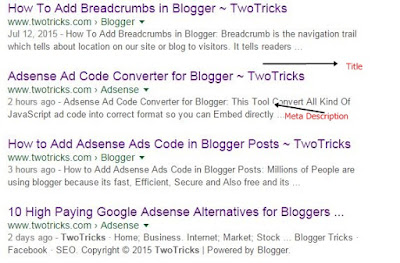 Important Meta tags for SEO