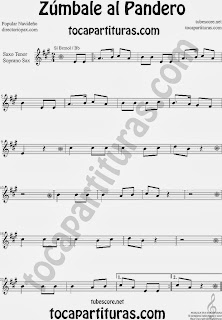 Partitura de Zúmbale al Pandero para Saxofón Soprano y Saxo Tenor by Sheet Music for Soprano Sax and Tenor Saxophone Music Scores