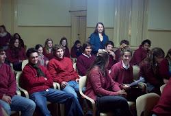 Con alumnos de Pigüé